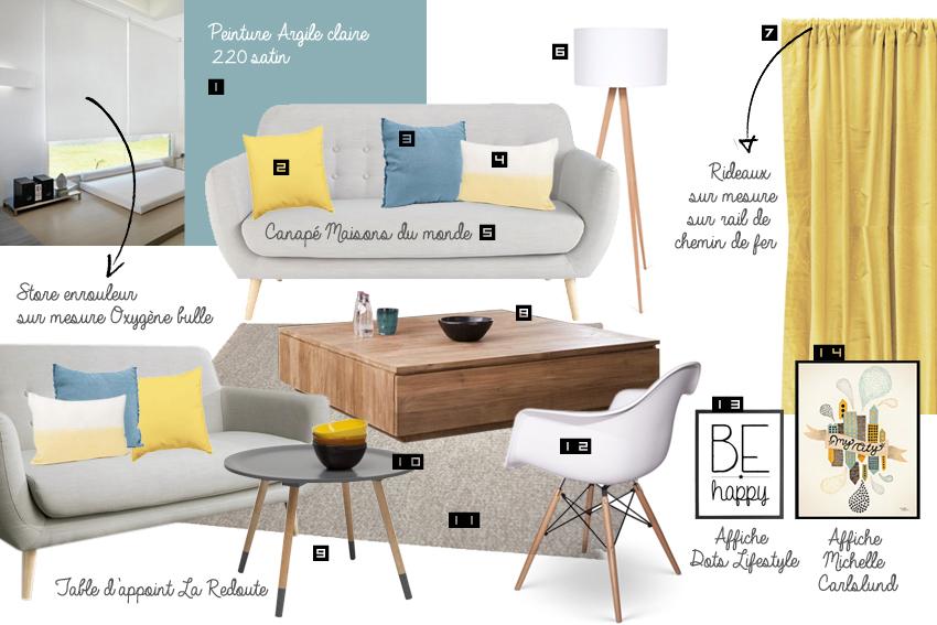 coussin scandinave jaune comment donner un style scandinave votre salon - Salon Scandinave Vintage