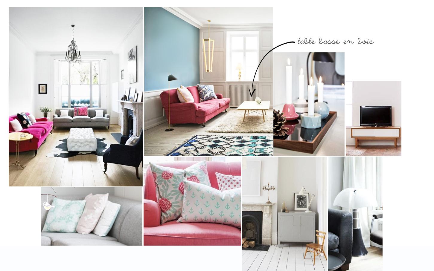 Salon Cocooning Rose: Decoration interieur salon idees chic et ...