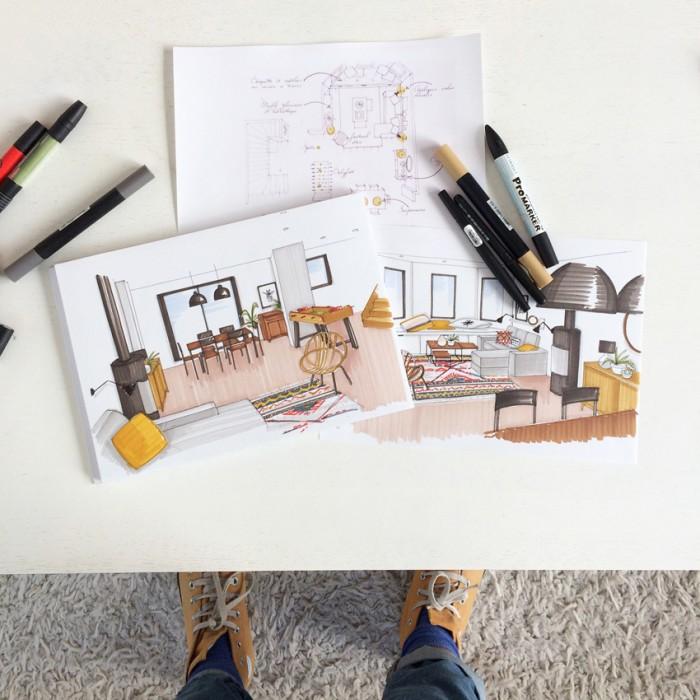 croquis. Black Bedroom Furniture Sets. Home Design Ideas