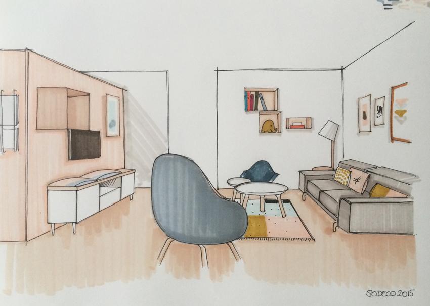 Salon et salle manger bruxelles - Saloon dessin ...