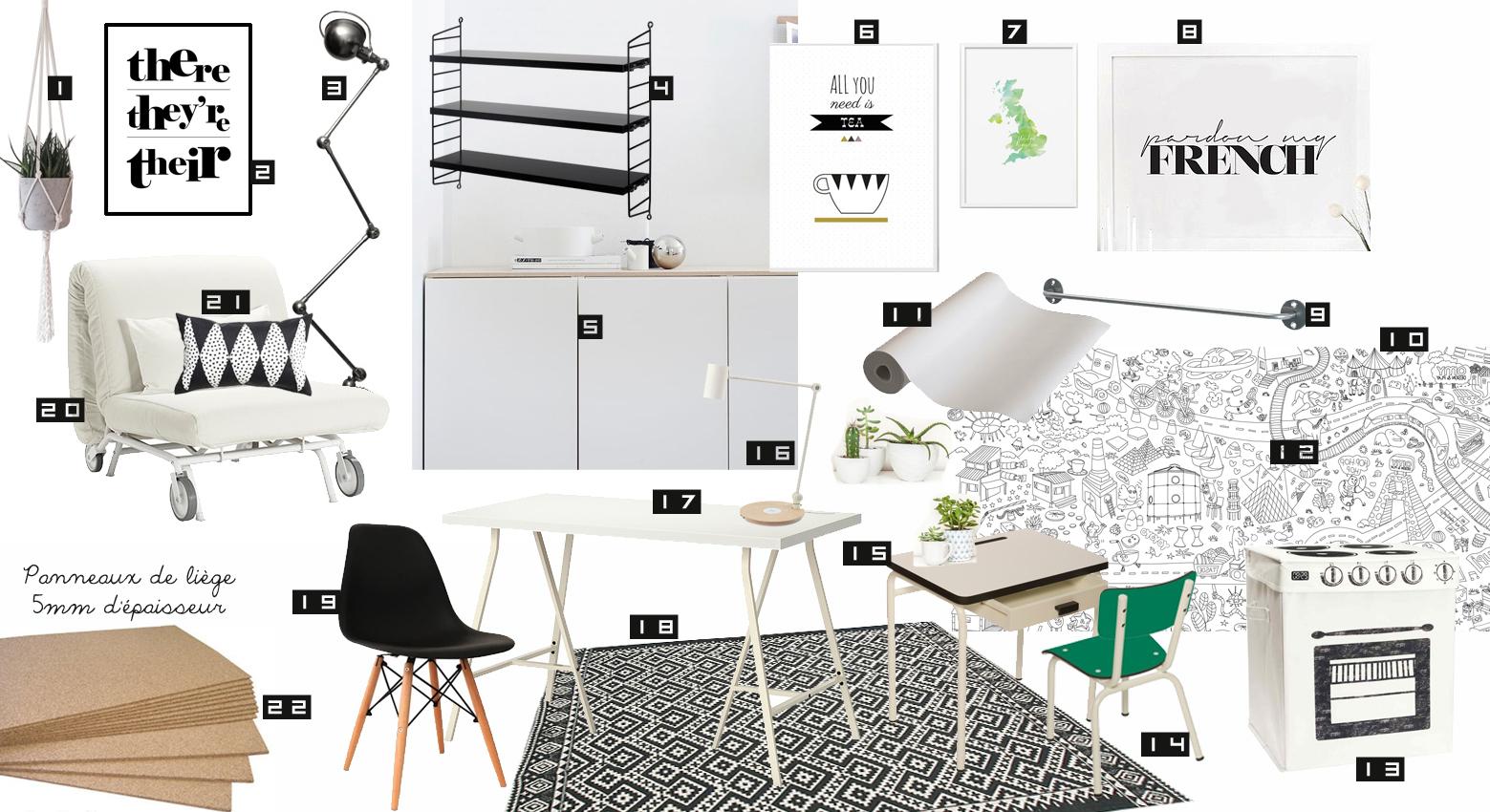 un bureau pour 2 duba. Black Bedroom Furniture Sets. Home Design Ideas
