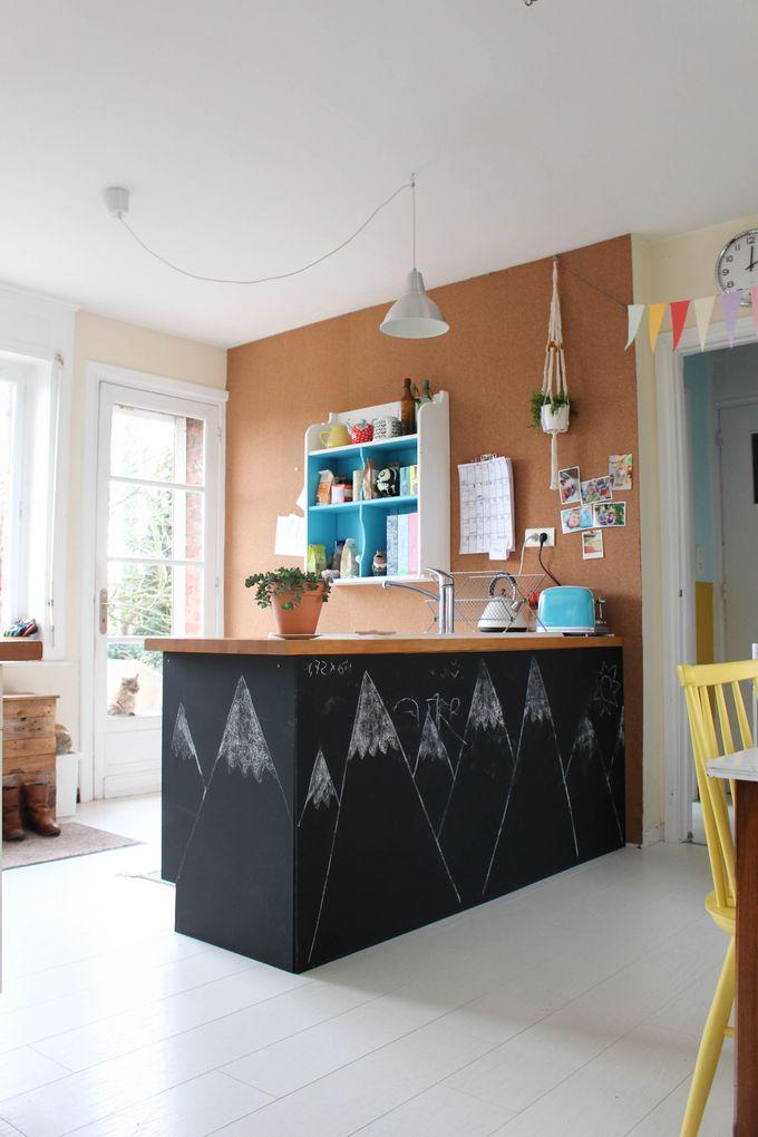 mur en liège cuisine mur affichage rouleau de liège (3)
