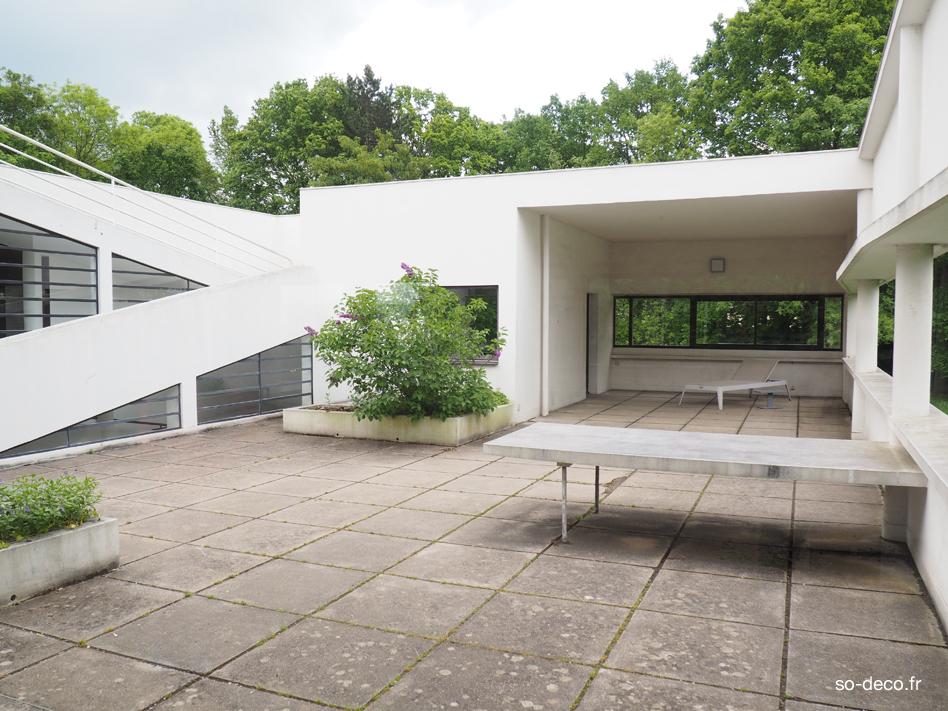 Terrasse Villa Savoye : J u2019ai visit u00e9 la Villa Savoye de Le Corbusier