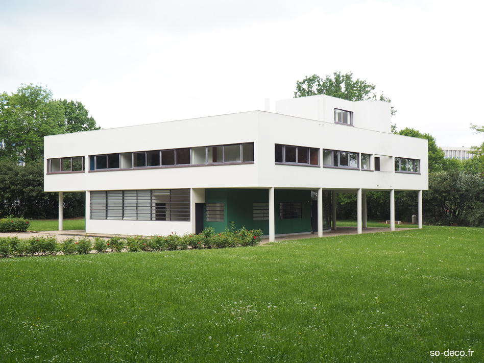 J\'ai visité la Villa Savoye de Le Corbusier