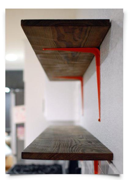 equerre etagere bois design