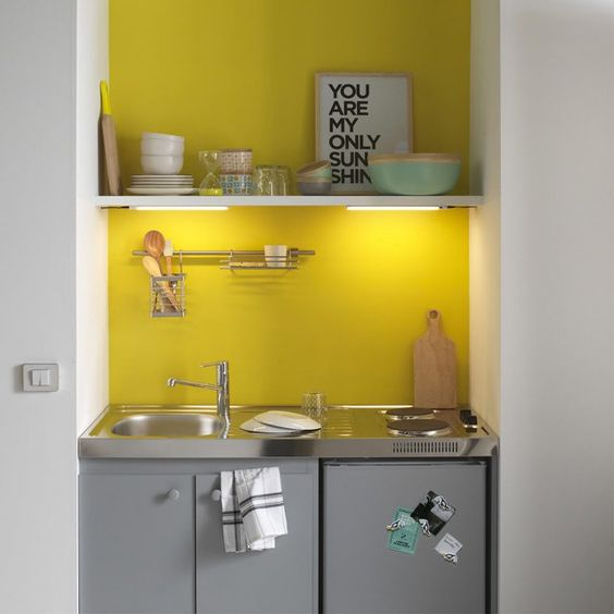 kitchenette-jaune