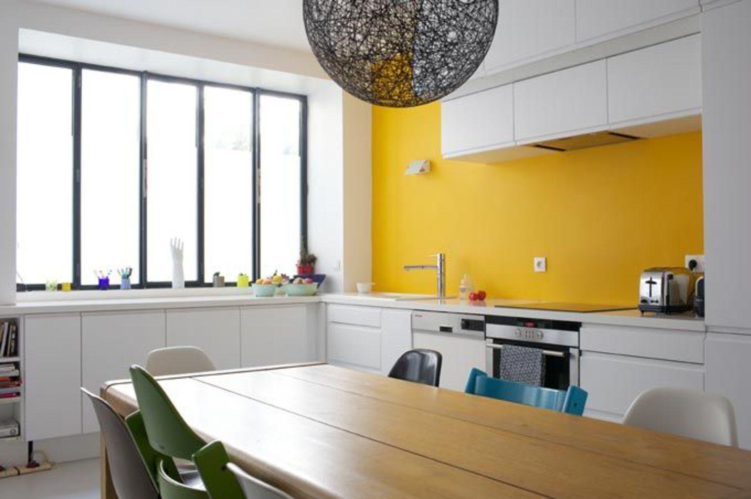Avant apr s sur une cuisine et bien plus encore for Cuisine mur jaune