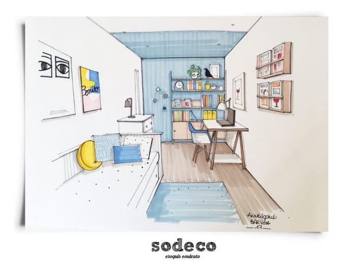 coaching pour une chambre troite. Black Bedroom Furniture Sets. Home Design Ideas