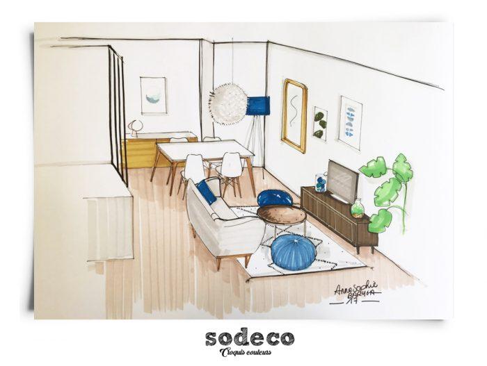 am nagement d une pi ce vivre de 20m2. Black Bedroom Furniture Sets. Home Design Ideas