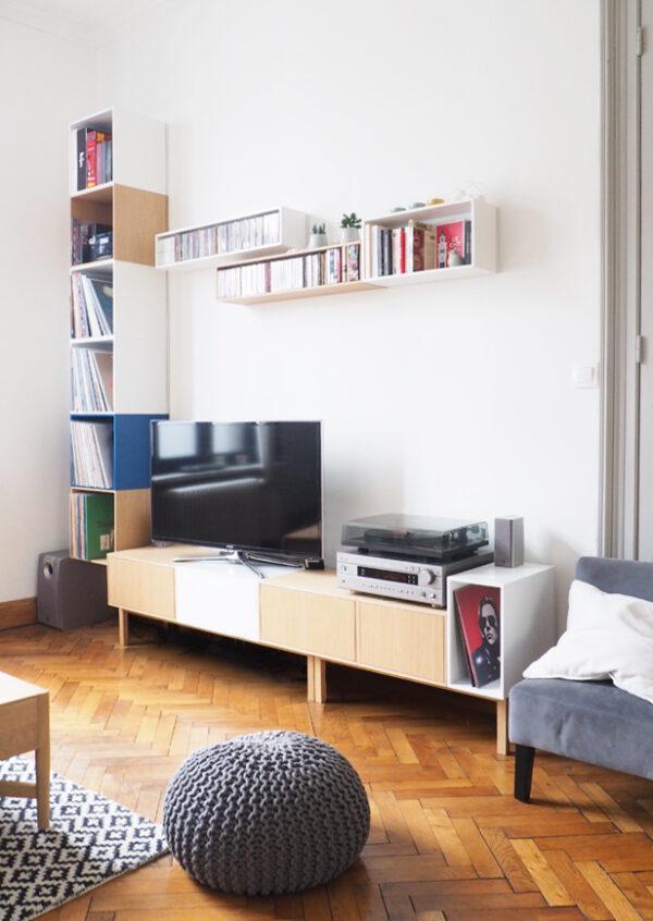 meuble-TV-mural