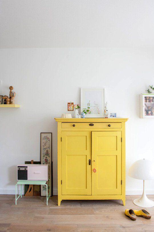 meuble-jaune